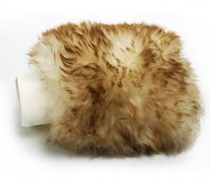 100% Aussie Merino Glove Kitchen Bathroom Gloves Sheepskin Sheep Lambswool Wool Wash Car Mitt-----Accept Custom Logo