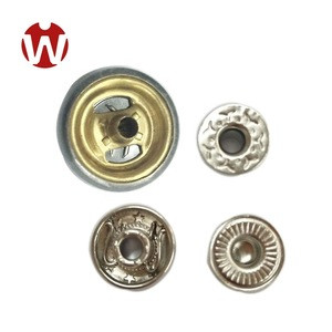 15mm Fashion Guang Dong garment accessories logo custom press snap metal button