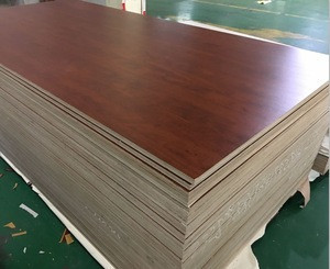 18mm double sided wood grain color melamine laminated plywood