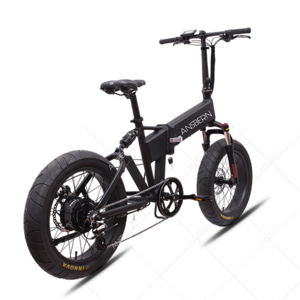 20 Inch 48V Folding Fat Tire Full Suspension Bicycle Electric Bike India 750W Electric Moutain Bicycle AluminiumAdult Disc Brake