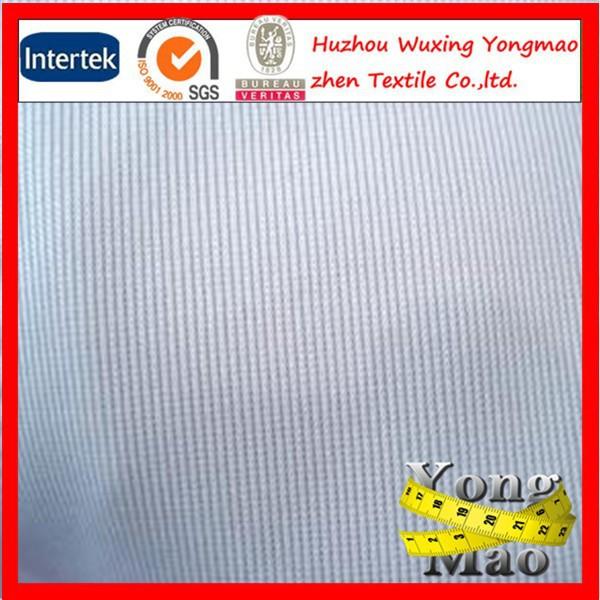 2015 huzhou city wholesale polyester tube rib knit fabrics