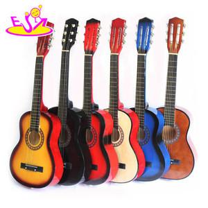 2018 New children wooden guitar, popular wooden kids guitar,hot sale baby electric guitar W07H013