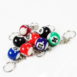 25mm Billiard ball keychain