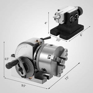 5 inch 3 Jaw Chuck Indexing Head Dividing Head with Tailstocks
