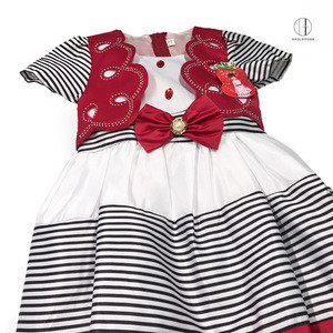 689 Red Yiwu Haolaiyuan Attractive price new type cheap baby satin dress clothes