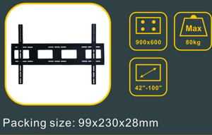 "900X600mm LED/LCD TV wall mount for 42""-100"" flat screen"