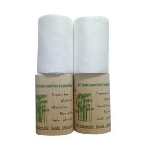 Biodegradable flushable bamboo liner , diaper liner