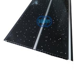 Black or White Platinum Sparkle PVC Bathroom Wall Cladding Panels Shower Ceiling
