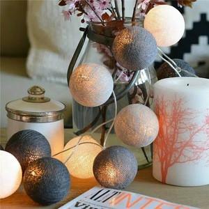 Bolylight 10 Led Cotton Ball String Christmas Tree Decoration Led Light