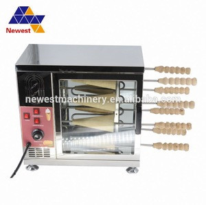 Bread Ice cream cone made chimney cake roll grilling making machine