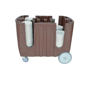 China manufacture Hotel&Restaurant&Buffet Adjustable kitchen Dish plate Caddy Storage trolley