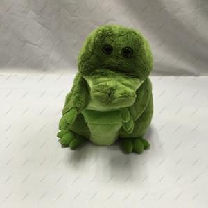 Custom green crocodile plush toys hand puppets
