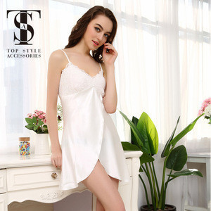 Customized silk pajamas sexy nighty sleepwear
