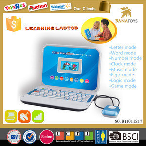 Educational equipment toy kid computer laptop English learning machine with big screen for kids
