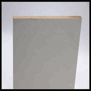 Expensive white 10mm  melamine MDF BOARD shandong Linyi
