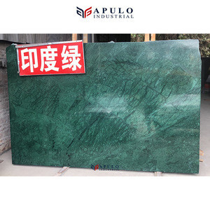 Factory direct Indian dark green marble slab stone bathroom guatemala types of green flooring emerald green marble tiles