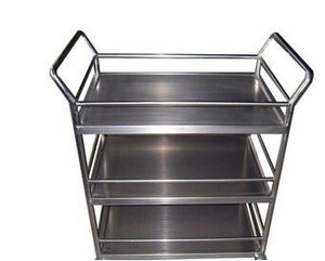 Factory direct price stainless steel hospital trolley , medical trolly with castor