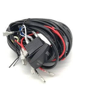Factory Processing Low Price Auto Wiring LED light Truck Wire Harness With Rocker Switch For Volvo