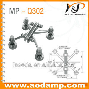 Four arms stainless steel glass spider 200mm MP-Q302