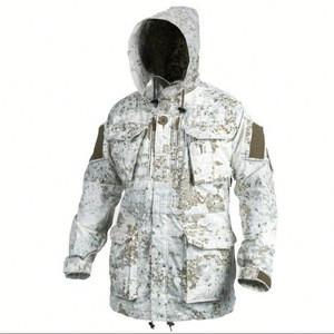 High Quality Waterproof Snow Camo Military Uniform Parka