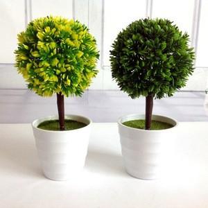 Home& indoor decoration,fashion artificial green plastic bonsai pots