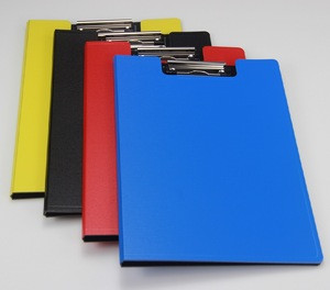 Hot sale wholesale customized PP plastic a4 hardcover, a3 file folder with clipboard
