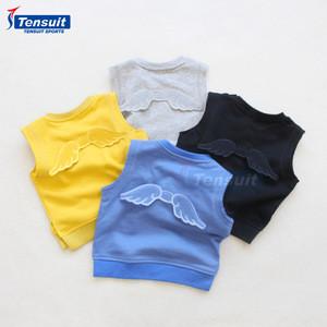 Kids sweater design boys cotton vest autumn warm child sleeveless sweater