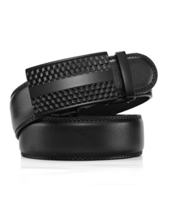 """Men's Solid Buckle with Automatic Ratchet Leather Belt 35mm Wide 1 3/8"""""""
