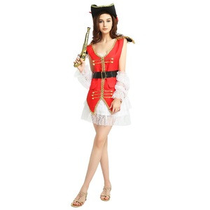 New Trendy Ideas Fancy Ball Cosplay Adult Female Pirate Costume,  List Dress Women Halloween Cheap Pirate Party Cosplay Costume