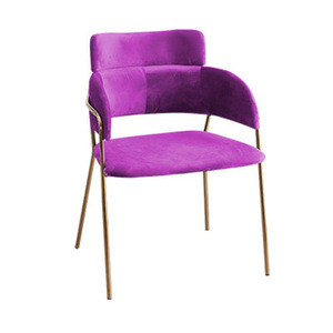 Nordic modern colorful dining room furniture type dining table chair design single chair
