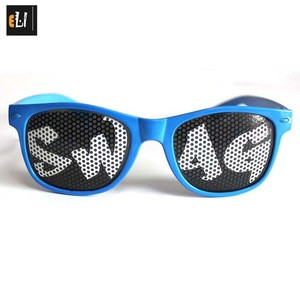 Pinhole glasses eye care pin hole glasses for both adult and kids with custom logo beatiful designer print