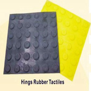 Round dot rubber tactile tile