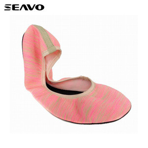 SEAVO nice new design soft pink dance ballet shoes for ladies