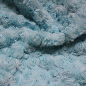 Several colors printed embossed faux fur fabric/PV fabric/plush fabric
