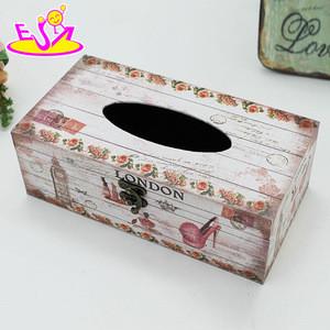 wholesale cheap home decorative wooden tissue box W18A004