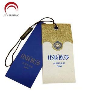 Wholesale Custom Paper Swing Garment Hang Tag For Clothing, High Quality Custom Hang Tags