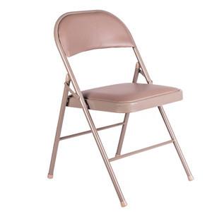 Wholesale simple design cheap school chair folding chair padded metal folding chair