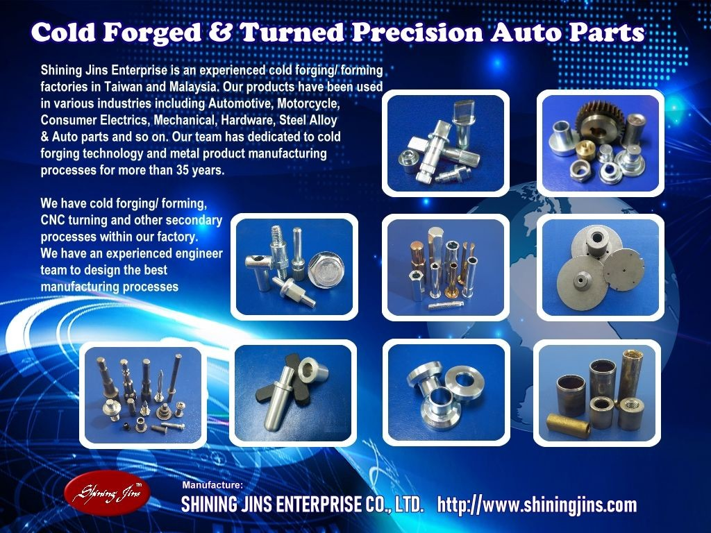 Fasteners - Cold forged and Turned made in Taiwan