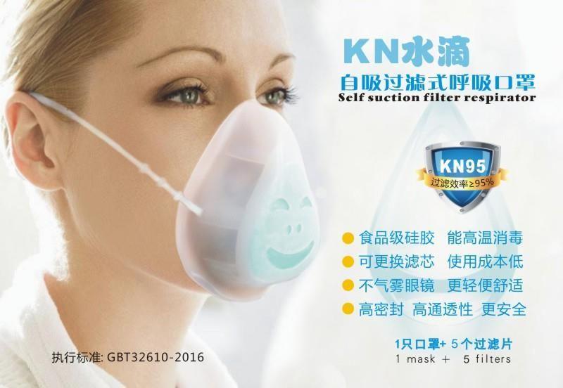 Kn95 slicone mask