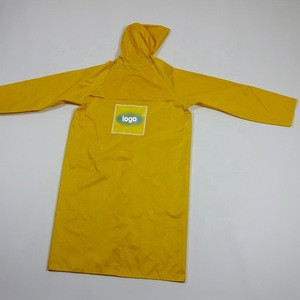 170T polyester taffeta chidren's raincoat kid's long rain jacket boy and girl rain coat