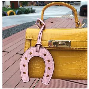 2020 INS Popular Fashion PU Leather Horse Hoof Horseshoe Bag Pendant Women Handbag Accessories Ladies Bag Charm Ornament Gifts