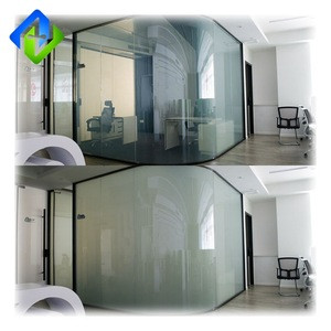 5mm Switchable magic privacy protection PDLC smart glass for bank 0003