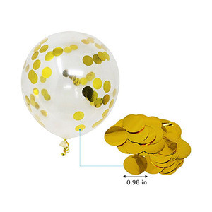 8pcs/lot 12 Inch Gold Confetti Balloons Gold Filled Latex Balloons Gold Silver Wedding Decoration Party Supplies