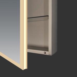 Acrylic LED lighted bathroom mirror cabinet, Modern bathroom vanity cabinet furniture
