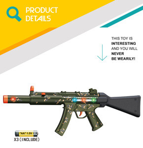 online shopping plastic toy camouflage electric gun with LED light and sound