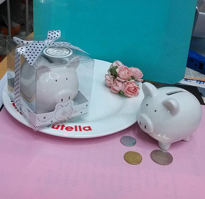 Baptism Favors Baby Shower Gifts ceramic saving box piggy coin bank Money Box
