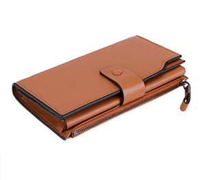 Blocking Large Capacity Luxury Genuine Leather Case Clutch Wallet Card Holder Organizer Ladies Purse