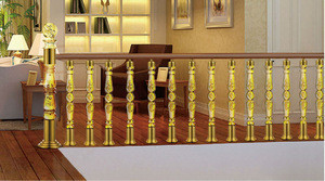 Buy luxury arcylic stair balustrade / crystal glass stair handrail /clear acrylic stair pilla for hotle office