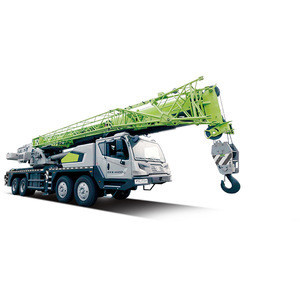 China Zoomlion 55 ton truck lift crane telescopic boom type five-arm truck crane
