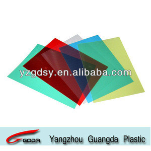 Colorful clear stripe PP sheets for binding cover office use